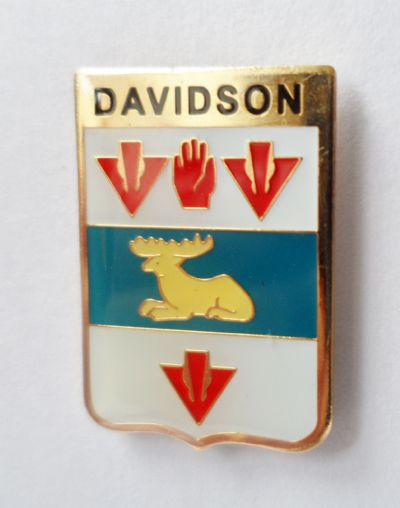Rings With The Davidson Coat Of Arms On